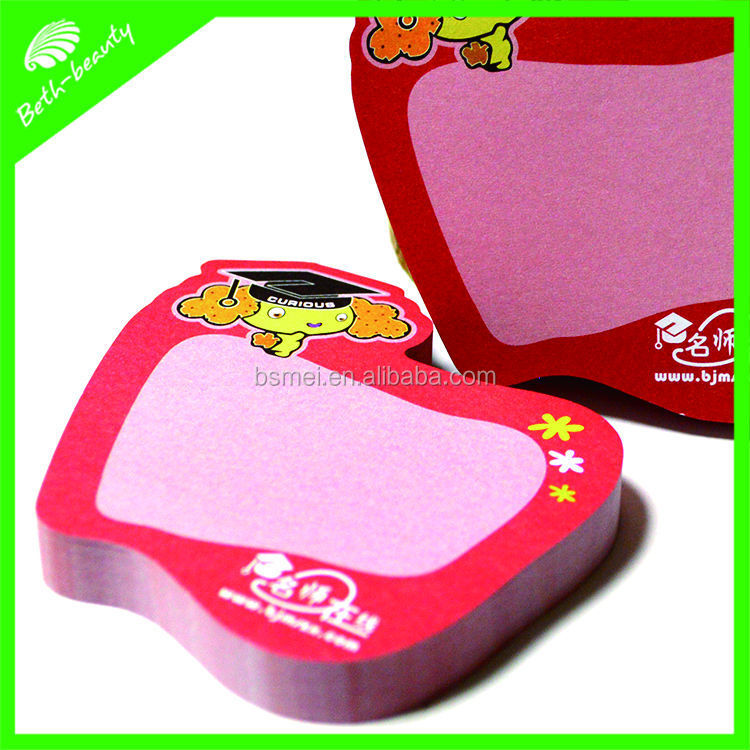 customized die-cut shape sticky note