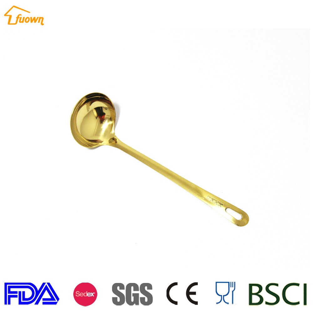 rose golden kitchen utensil <strong>set</strong>, stainless steel cooking ladle scoop skimmer