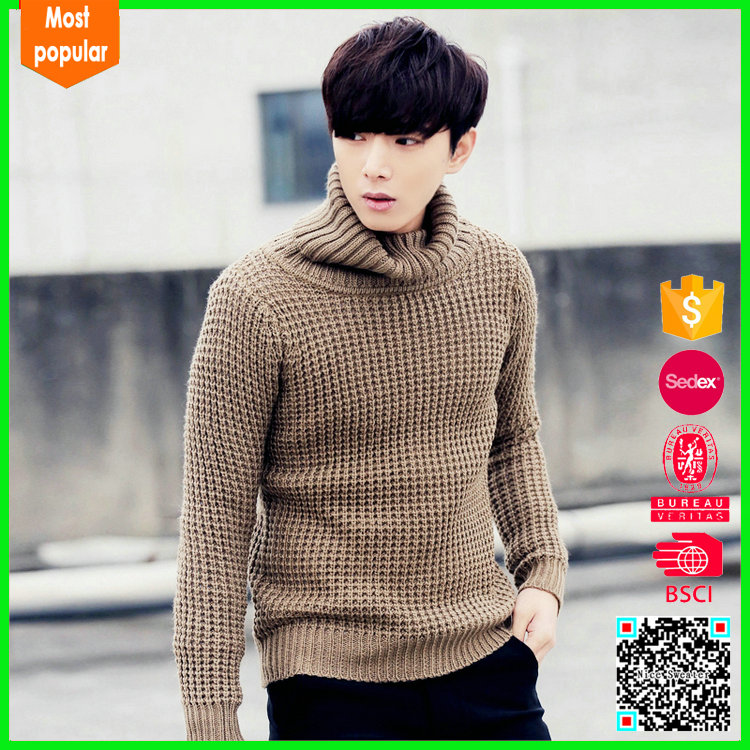 Supplier choice wholesale mens turtleneck sweater