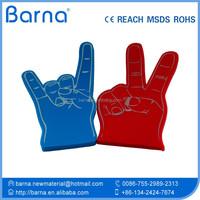 EVA sponge customized fans finger foam hand for cheering /concert/sport