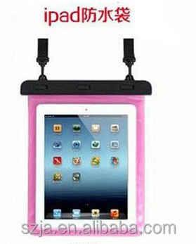2016 swimming Various sizes waterproof bag case for iPad 5/ 6/air/ / mini