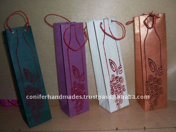 Wine/ Grape Theme Wine Bottle Bags