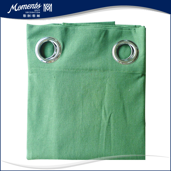 Metal Ring Polyester Simple Curtain