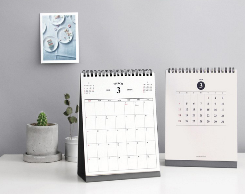 High quality office business use branded table calendar