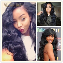 Top Quality 30 Inch Brazilian Virgin Human Hair Full Lace Wig For Whirte Mohawk Wig