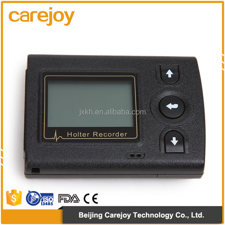 12-lead / 3 channel analysis system 72 Hours recording Mini LCD holter monitor ecg for sale