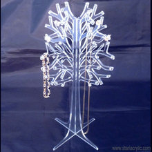 Detachable Crystal Clear Acrylic Jewelry Tree, Tree shaped Acrylic Jewelry Display Holder Stand