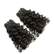 Fast Delivery One Donor Jerry Curl Virgin Peruvian Human Hair Extension