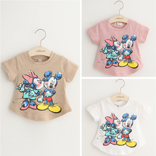 Custom Lovely Cartoon fine fancy Summer cotton t-shirt for Kids