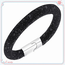 2015 top quality magnetic clasp stardust bracelet, trending hot mesh bracelet stardust ,wholesale fashion jewelry