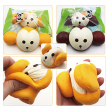 China Factory Supplier High Quality Soft Slow Rising Jumbo Animal Monkey Keychain Kids Squishy Toys