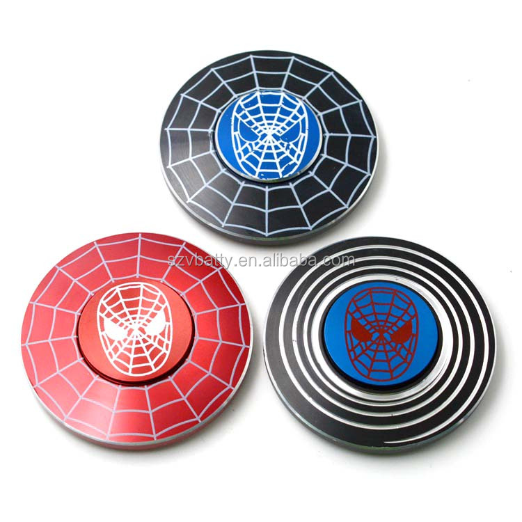 Zip Spinners- Spiderman Toy Metal Fidget Spinner with Ultra Speed Deep Groove Bearings Autism Toys