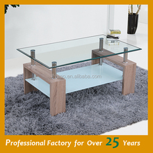 Wholesale cheap horse glass coffee table JY-02