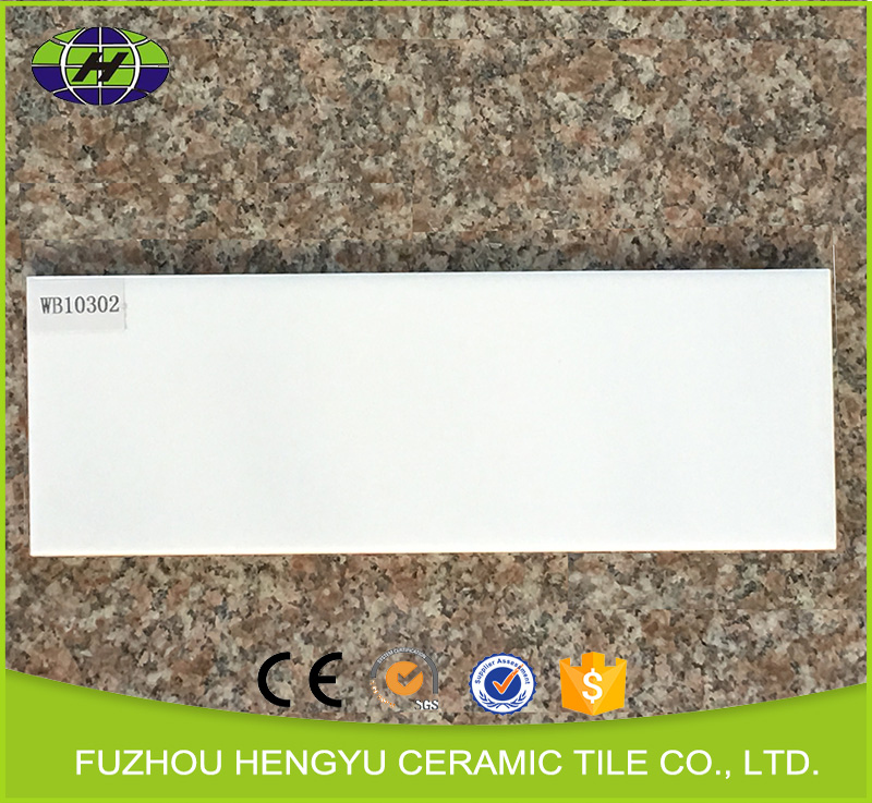 Fuzhou hengyu 100x300mm Italian bathroom ceramic beveled subway tiles