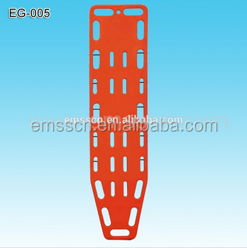 Emergency rescue hard plastic backboard