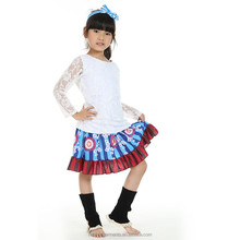 Lace shirt and Knee High Skirt matching girls clothing sets