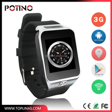 2017 Cheap 3G smart android watch with gps wifi bluetooth mobile phone