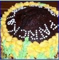 ROUND SHAPE -SUNFLOWER CHOCOLATE CAKE