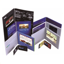 TFT screen video in print technology Promotional interactive mailer 2.8 inch disposable video player