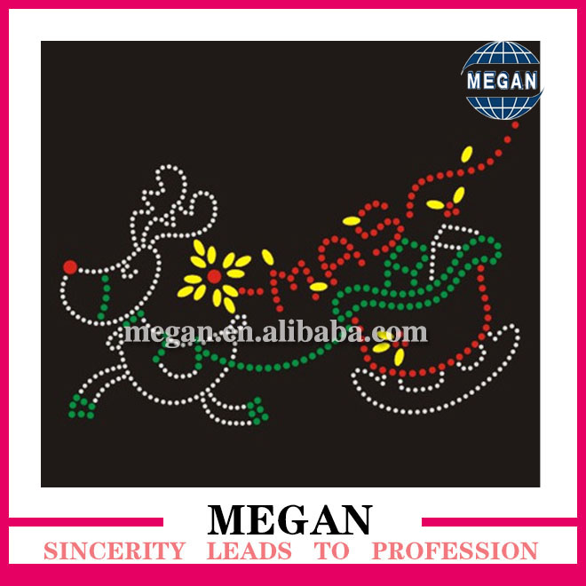 Wholesale custom pattern hot fix rhinestud motif designs transfers in mixed color