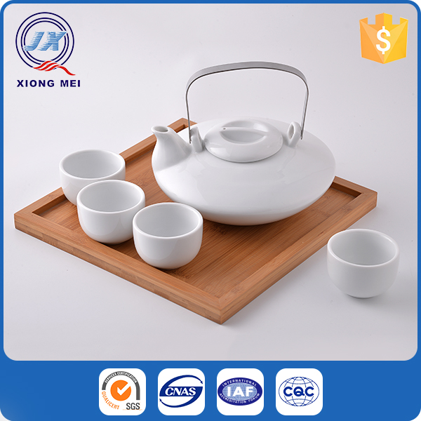 High quality creative tableware chinese white porcelain tea set
