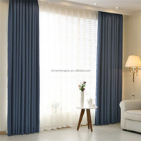 Latest designs ribbon embroidery lace curtain fabric for hotel curtain