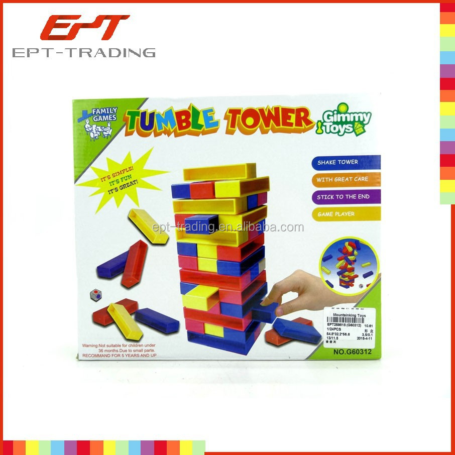Hot selling clever baby tumble jumble tower toy