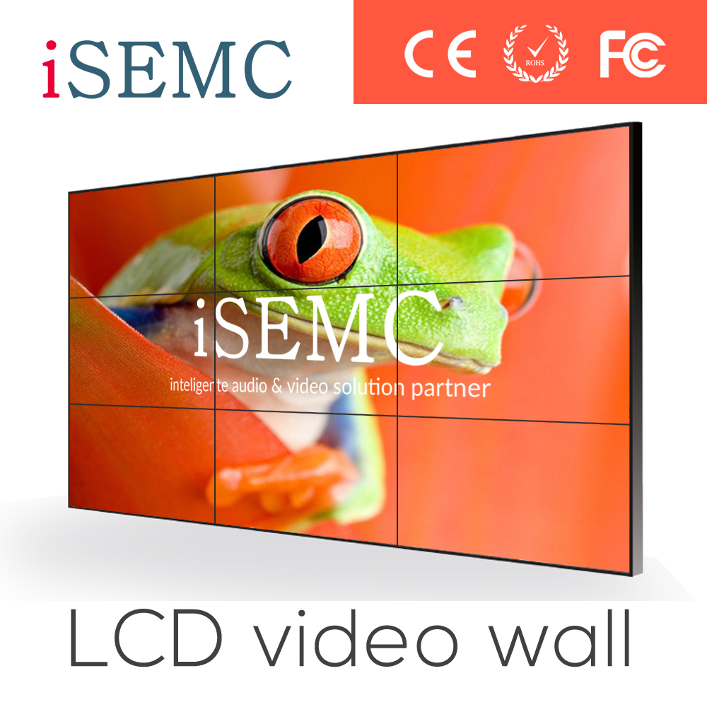 Video wall List 2015 New 65 inch LCD Video Wall unit with super narrow bezel 4K resolution