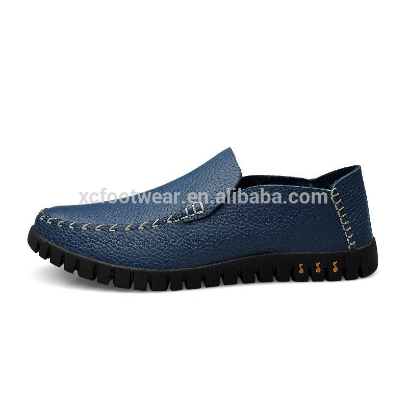 CD307 <strong>men</strong> handmade stitching full grain cow leather casual shoes