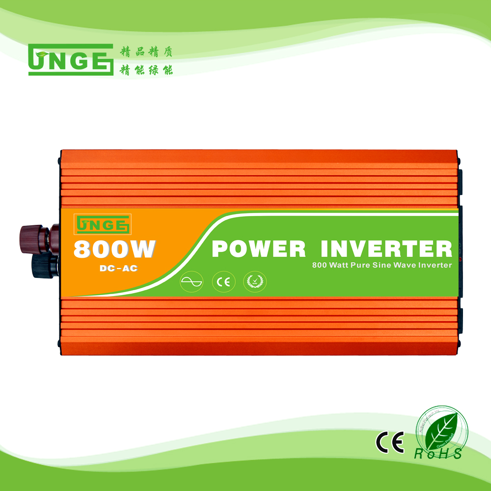 popular off grid highly frequency 50HZ to 60HZ 800W DC to AC pure sine wave inverters