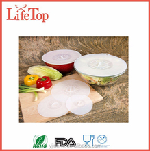 Set of 4pcs s Fashion Kitchen Cooking Tools Microwave Oven Safe Silicone Lid