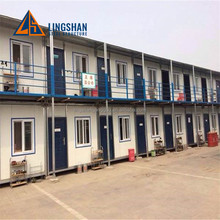 low cost steel prefabricated frame house / labor camp