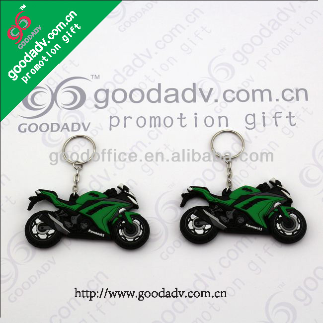 Personalized gifts Cartoon Motorcycle design 3D Soft Keychain