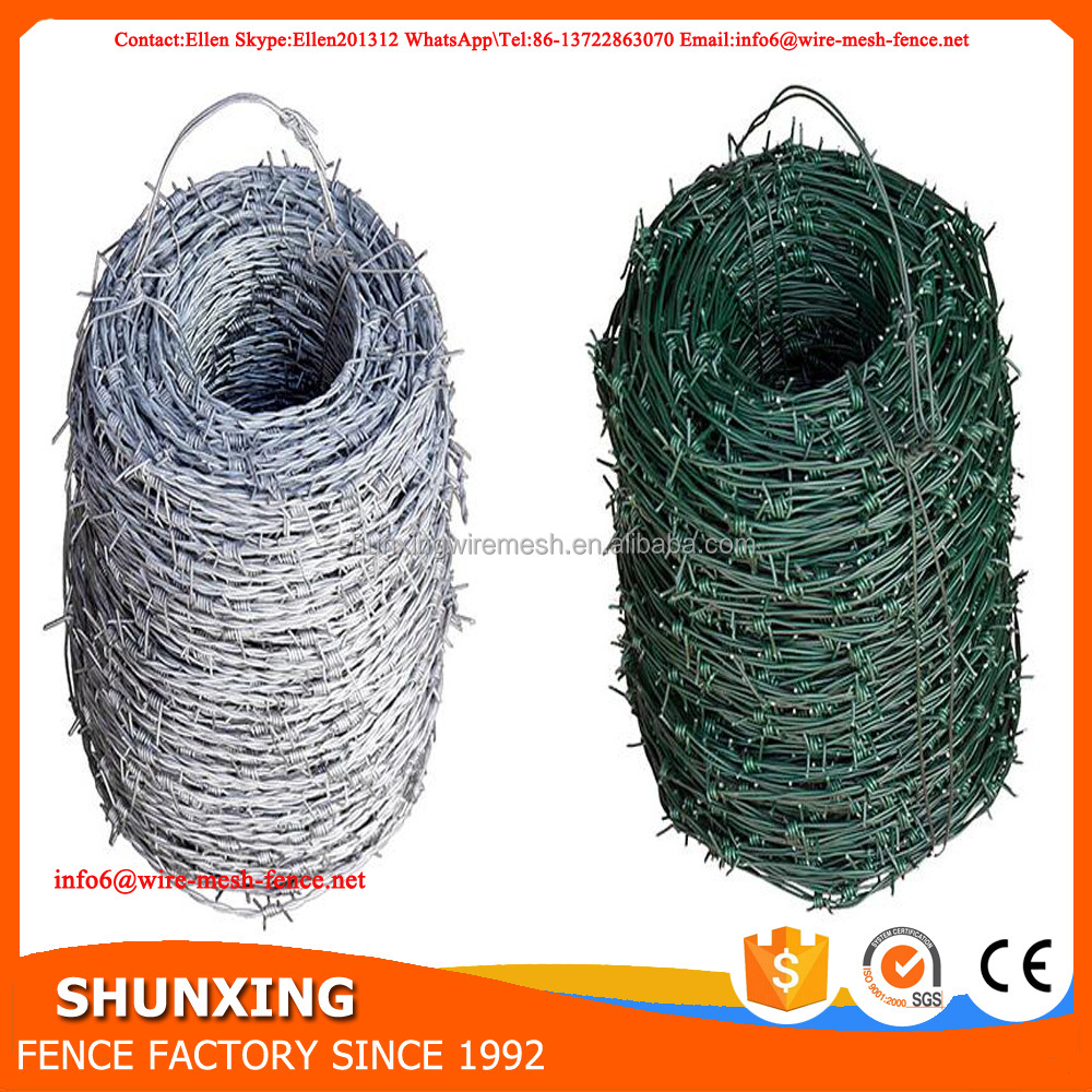 Cheap Price PVC Coated Galvanized Barbed Wire With Black or Green Color