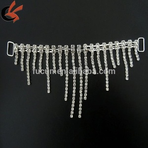 Swag Droop Rhinestone Bikini Side Pieces Connectors for bikini Competition suit