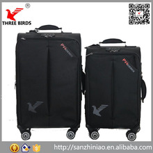 Alibaba three birds flylite luggage 3 pcs lightweight spinner nested luggage set China