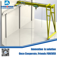 Euro-style single girder semi gantry crane of trackless design