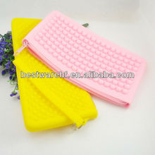 20*10*2CM 7.87x3.9x0.78 inches cube silicone phone bag cases cover with zipper