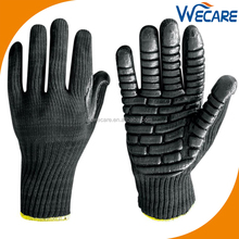 Black Lightweight Rubber Foam Latex Work Protective Anti Vibration Reducing Gloves