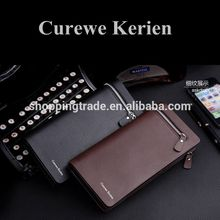 Classical high capacity Curewe Kerien pu leather wallet for men