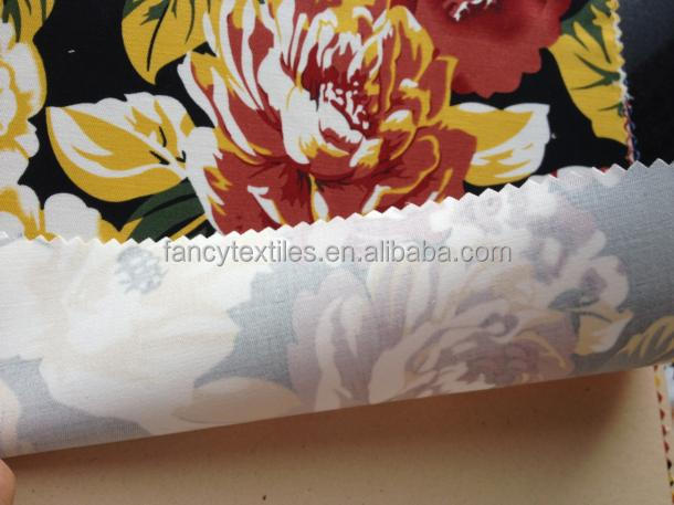 100%COTTON SPAN FABRIC BIG FLOWER PRINT FABRIC