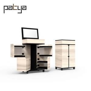 Patya Space saving furniture hardware Bedroom Vanity Table With Lighted Mirror