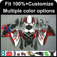 INJECTION MOLDING panels K8 ABS Fairing For Suzuki silver red GSXR 600 GSXR 750 2008 2009 2010 GSXR600 GSXR750 GSXR 600 Fairing