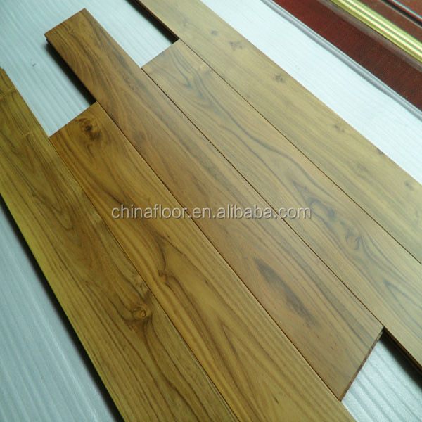 Foshan stock cheap chinese teak real solid wood flooring for Cheap solid wood flooring