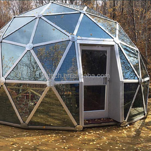 China manufacturing aluminium frame glass house/sun room with smart glass