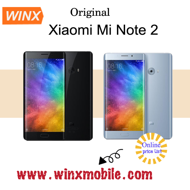 "Original mi note 2 xiaomi Prime 6GB 128GB Android Snapdragon 821 5.7"" android phone price list"