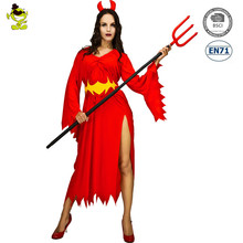 Woman Red Ghost Devi lCostume Dress Up Halloween Adult Costumes