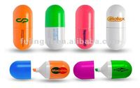 Capsule pill shaped Highlighters/multi colored highlighter pen