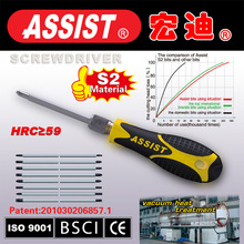ASSIST brand S2 screwdriver sets with PP+TPR material handle tool sets
