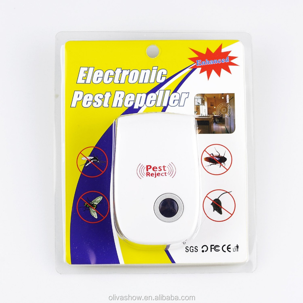 Electronic Ultrasonic Anti Insect Mosquito Pest Reject Mouse Killer Magnetic Repeller